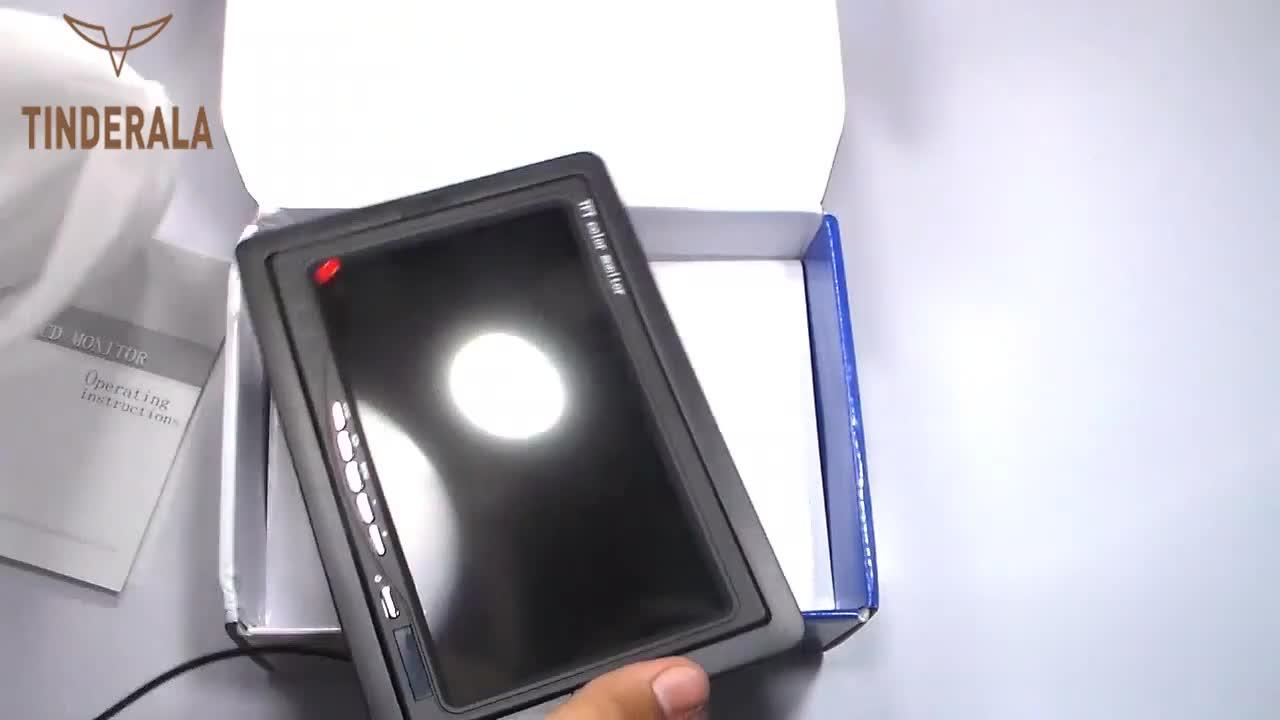 7 polegadas TFT Display LCD Car Video Monitor Wired Câmeras Reversa Sistema de Estacionamento Da Câmera para Retrovisor Do Carro Monitores Suporte DVD VCD