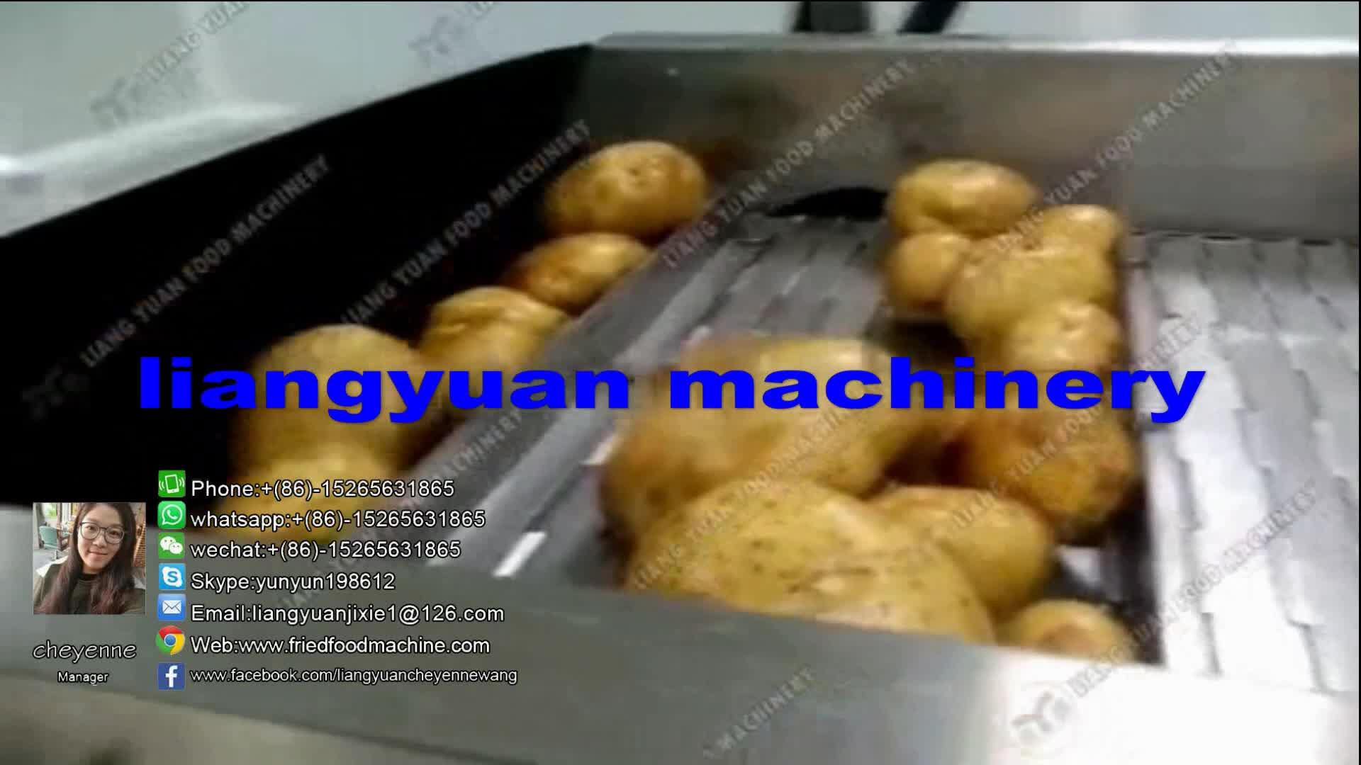 유방 zhucheng 200 키로그램/시간 전체 자동 감자 칩 메이커