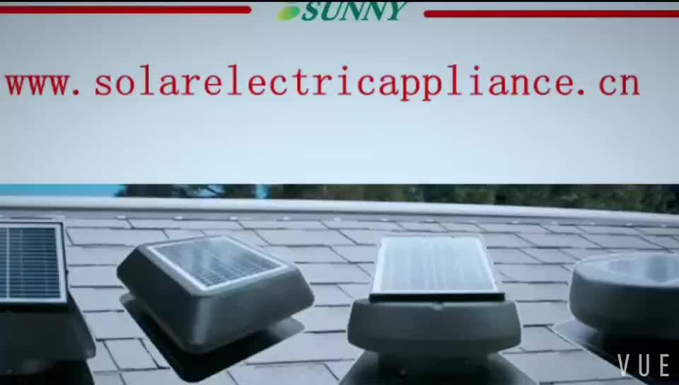Venta caliente 12 pulgadas 14 pulgadas gran flujo de aire montados en el techo solar ático fan