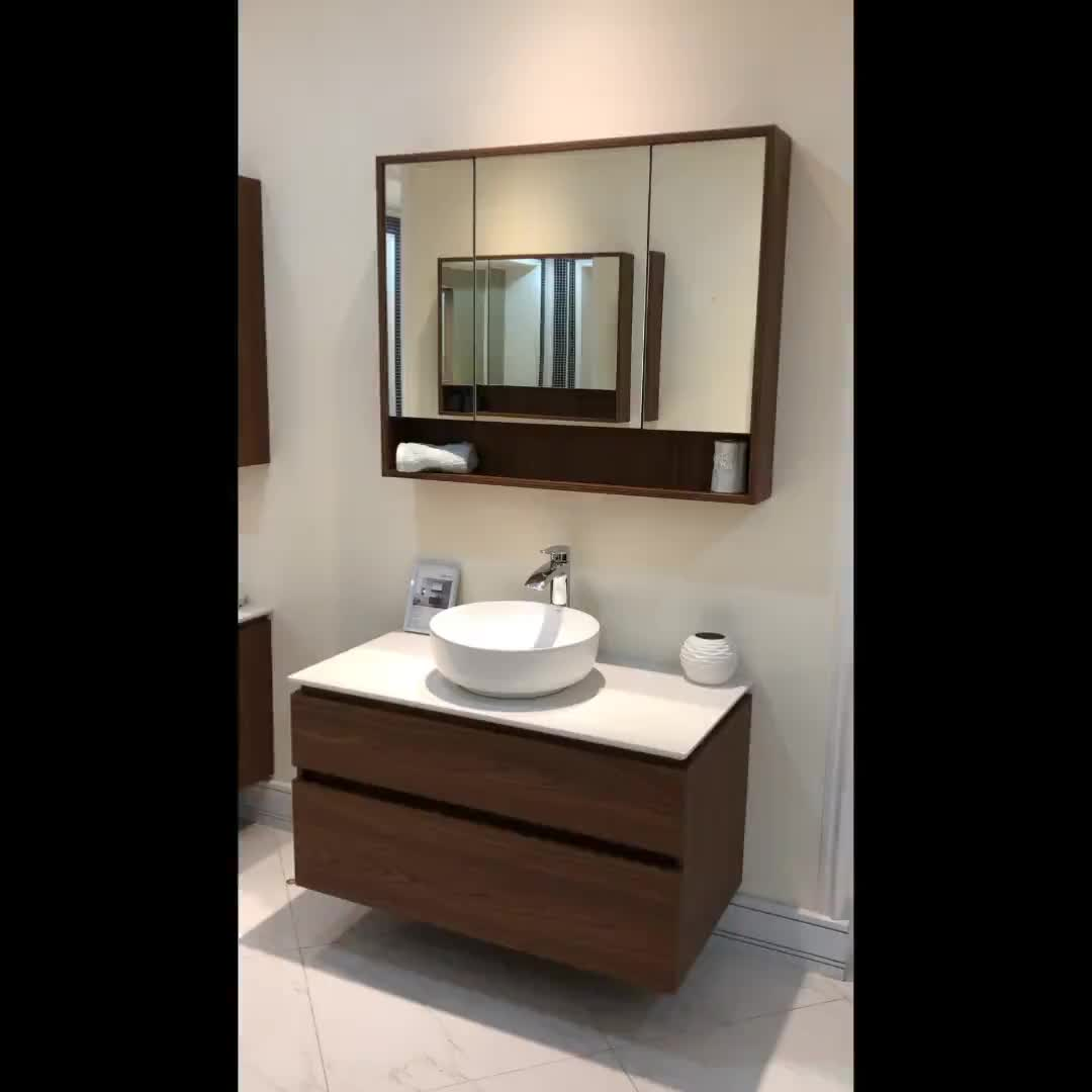VAMA 40 بوصة جديدة الايطالية واحد الميلامين الخشب خزانة حمام الغرور 772040