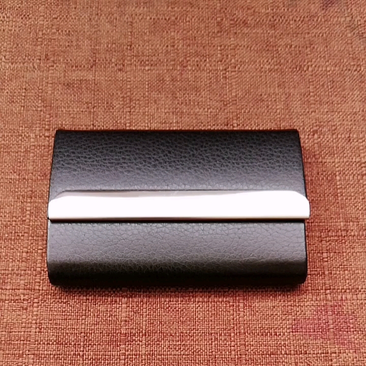 Wholesale Stainless Steel Multi  Business Credit Card case Leather Business Name Card Holder