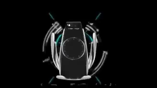 10W Wireless Car Charger Automatische Spannen Snel Opladen Telefoon Houder In De Auto Voor Iphone Xr Huawei Samsung Smart telefoon