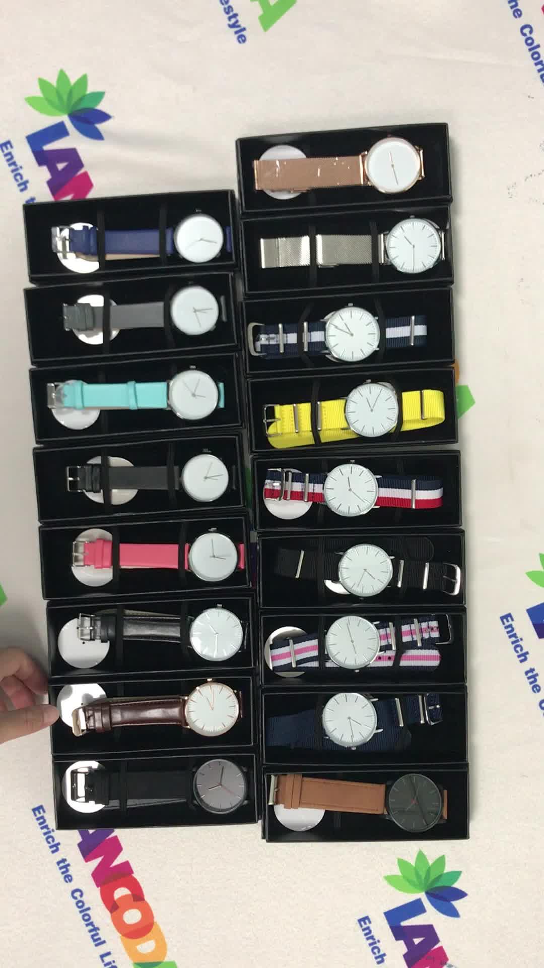 Individuelles Logo Echtes Leder Strap Sublimation Frauen Uhr