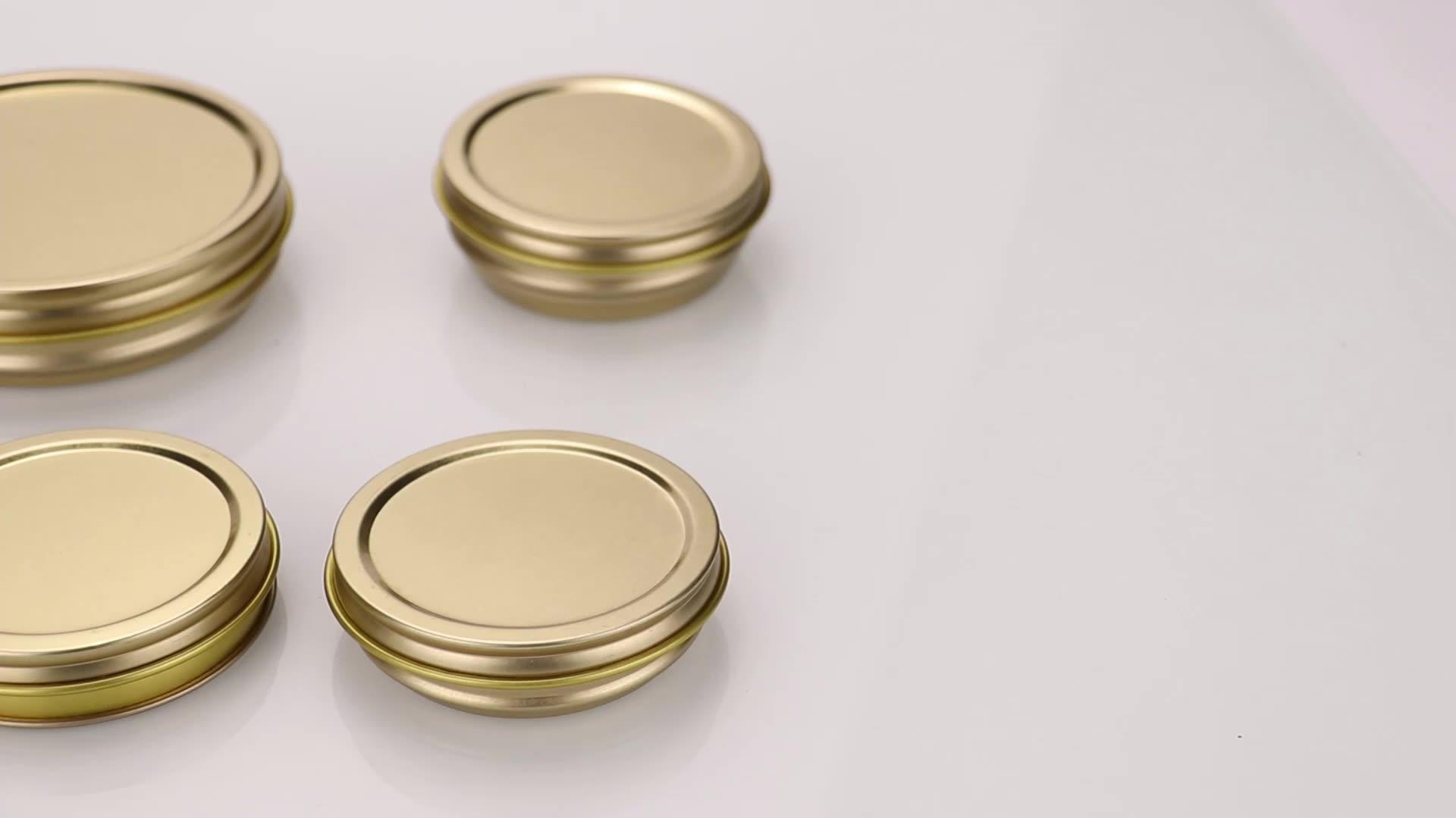 ホット販売製品多く種類容量空金属キャビアことができ、ラウンドスズ缶包装用マグロ