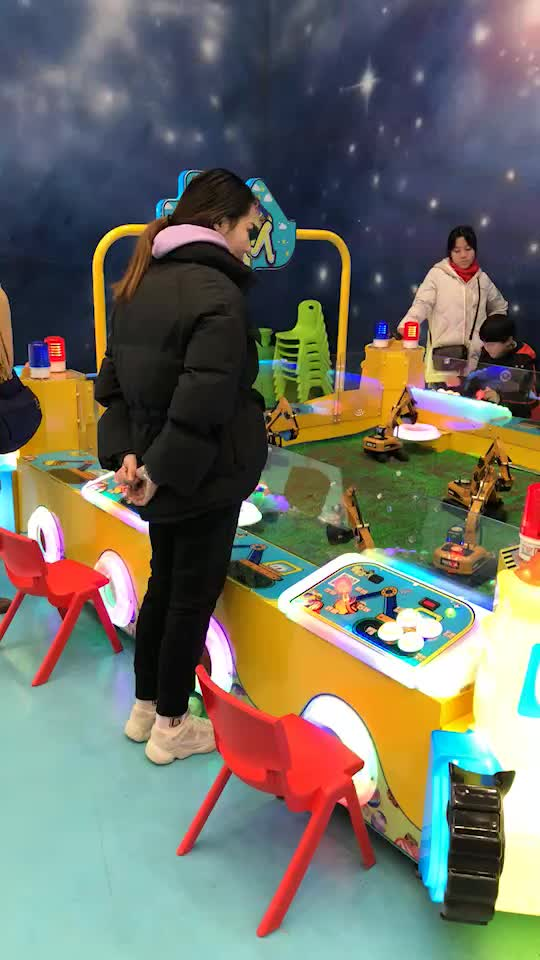 Canton Fair Remote Control 6 Player Electric Digger Game For Kids Shopping Mall Play Games 15 Square meter
