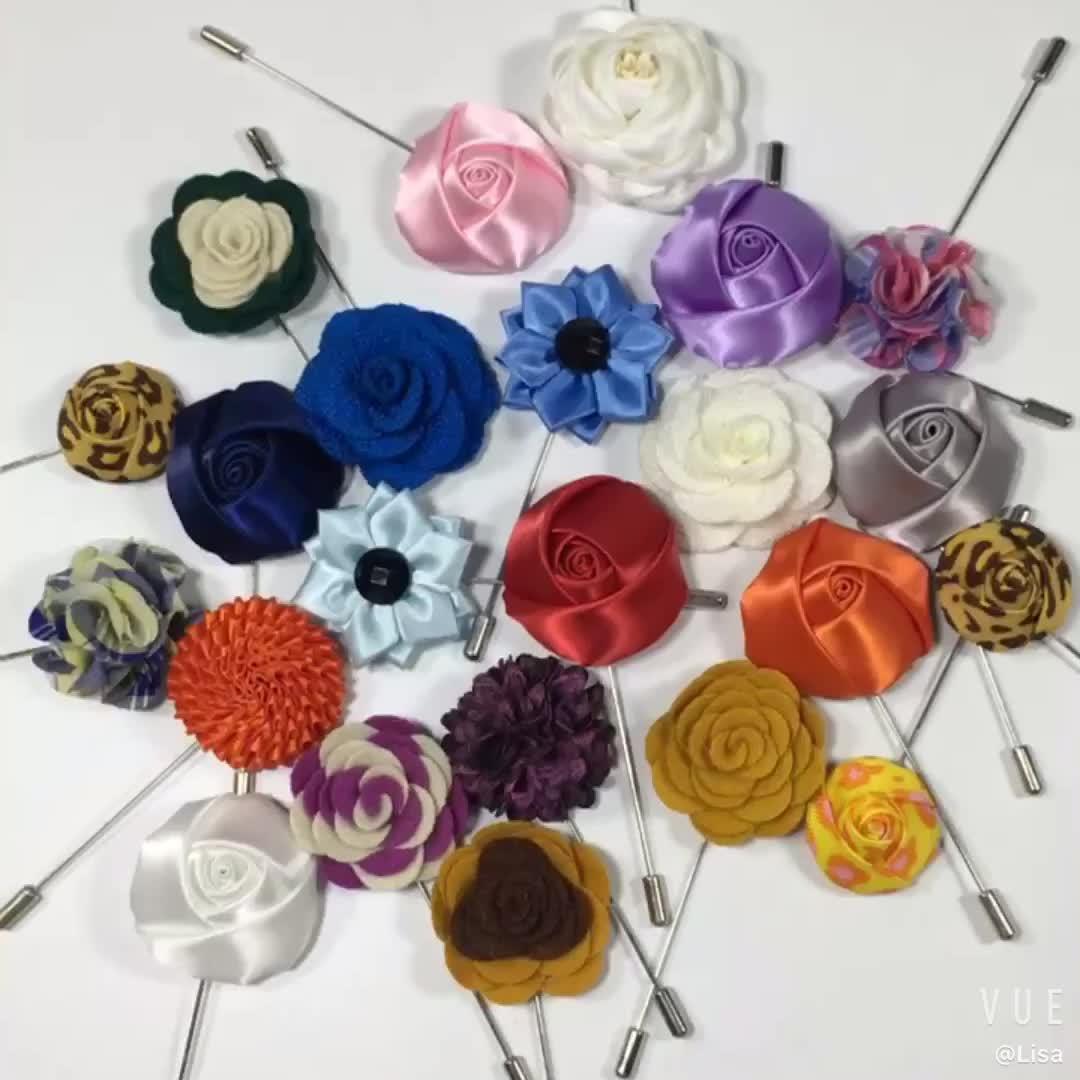 Free Shipping Flower Lapel Maker of Handmade Luxury Bouquet Brooch Lapel Pin For Formal Dresses