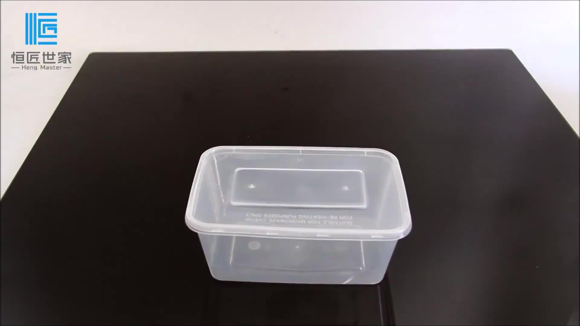 Tek kullanımlık şeffaf plastik saklama kutusu gıda ambalajı yemek kabı