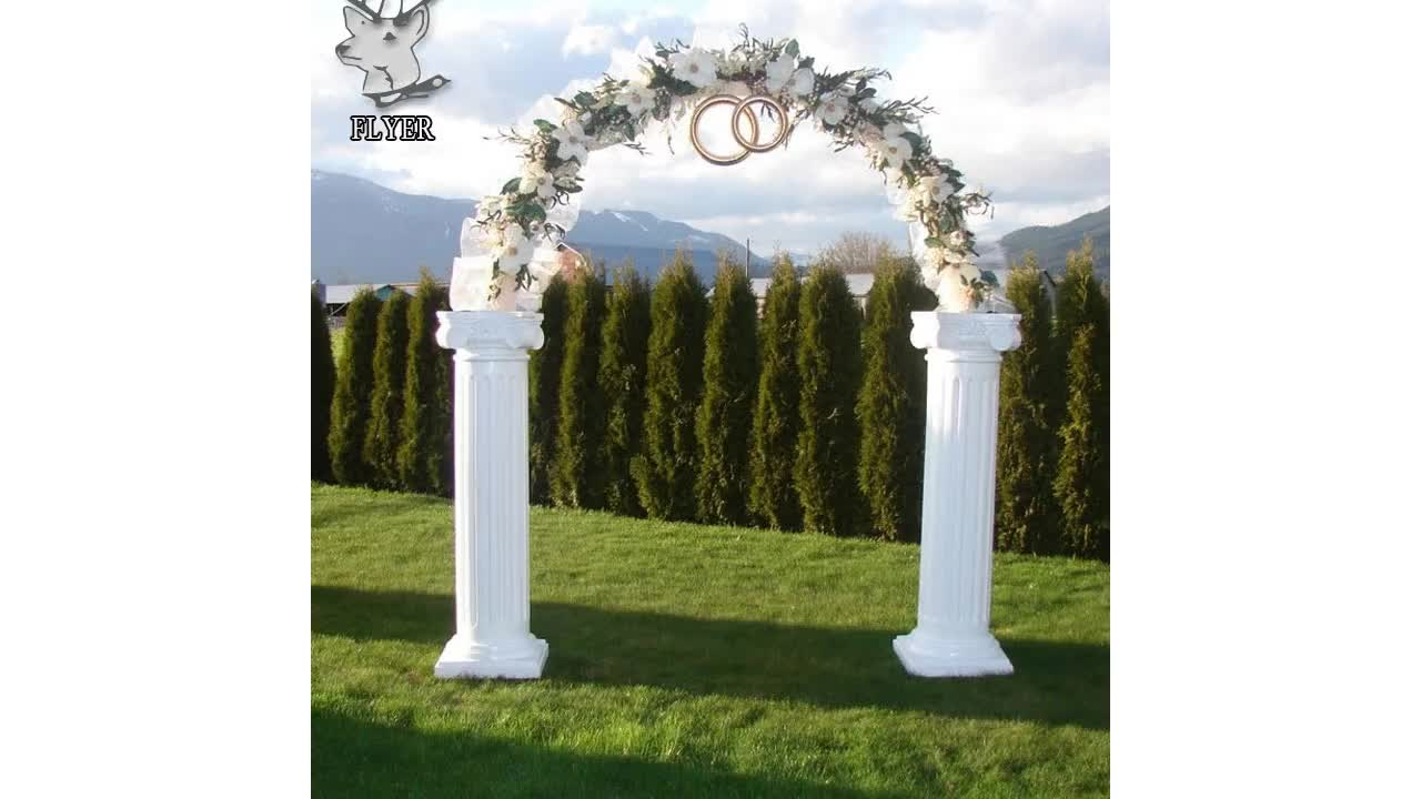 Hot Sale customized natural marble stone wedding decoration pillars for sale