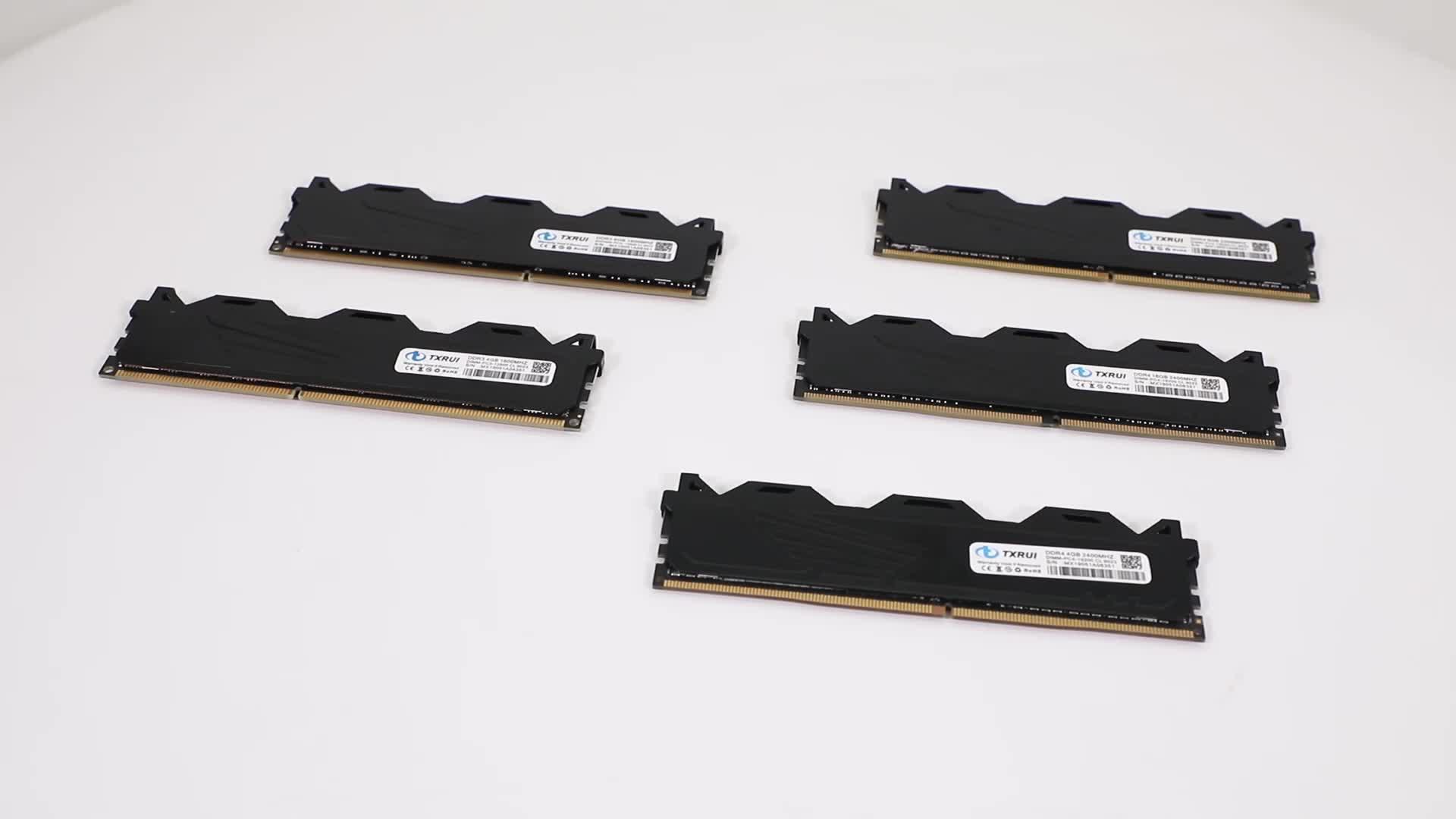 TXRUI 100% Genuino Tutte Le Schede Madri Sodimm RAM DDR3 4 GB 1333 Mhz 16 chip per Desktop