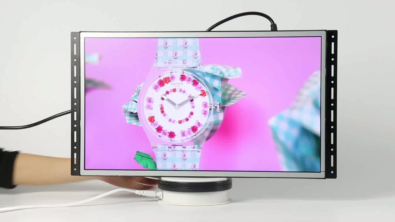 1080P video 21.5inch panel x screen 12v video player for pop display