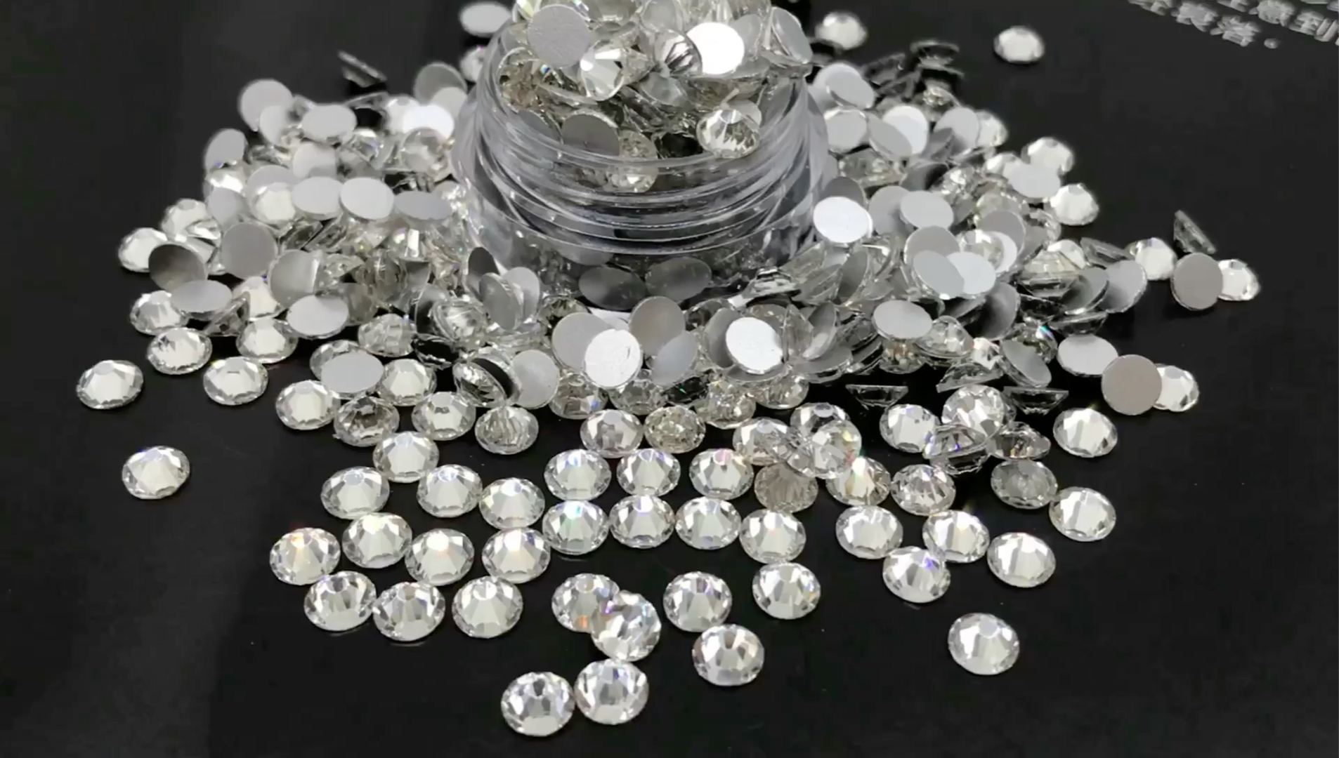 Glass Rhinestone non hotfix 3mm crystal clear color for nail