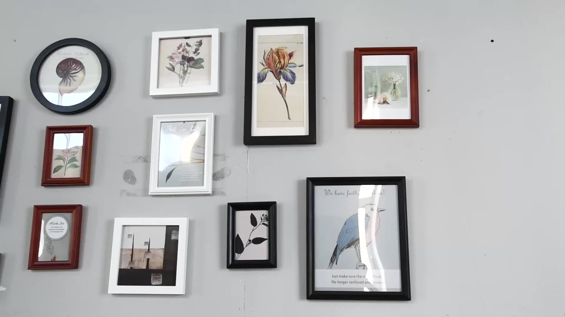 Modern Black And White Cool Style Gallery Wall Solid Wood Photo Frame Sets