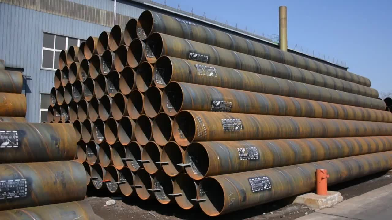 TOP QUALITY ASTM A252 GRADE 3 PILING WELDED SSAW SPIRAL STEEL PIPES