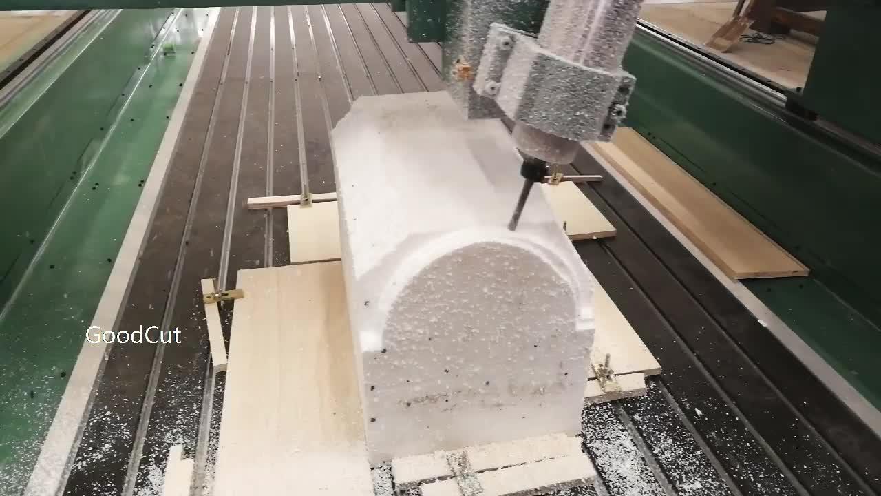 बारी बारी से 180 तिरछा धुरी सीएनसी मशीन के लिए रोटरी फोम लकड़ी पूर्व पैटर्न ढालना