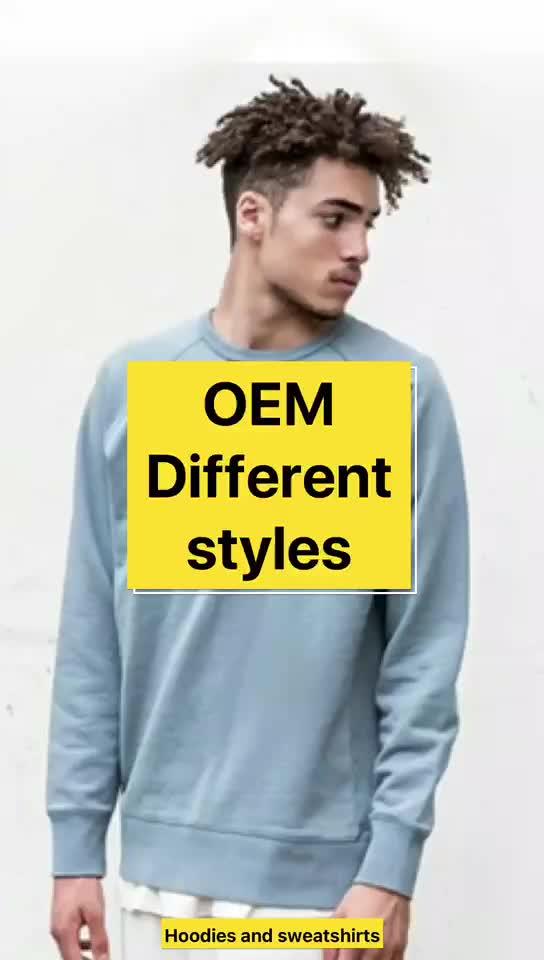 Top คุณภาพต่ำ MOQ Custom Crewneck Mens Long Sleeve Plain เสื้อ