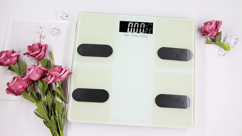 2020 BMI Kalori Warna-warni Bluetooth Elektronik Digital Berat Lemak Tubuh Pribadi Skala Pintar