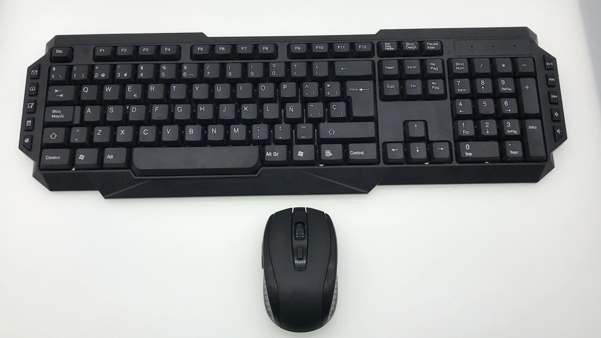 Teclado y ratón combo del uso portátil de juegos jugador Oficina OEM logotipo personalizado cable USB escritorio de la computadora teclado inalámbrico ratón combo