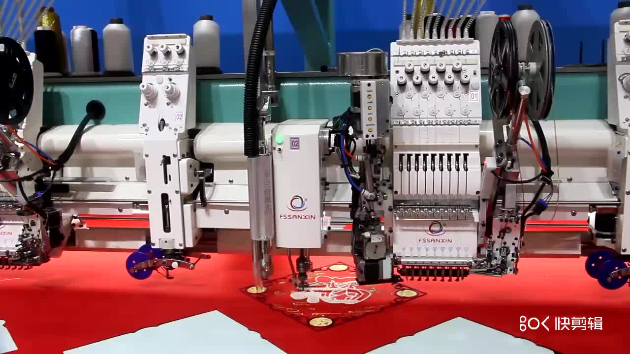 Special multi function computerized embroidery machine with laser cutting system price