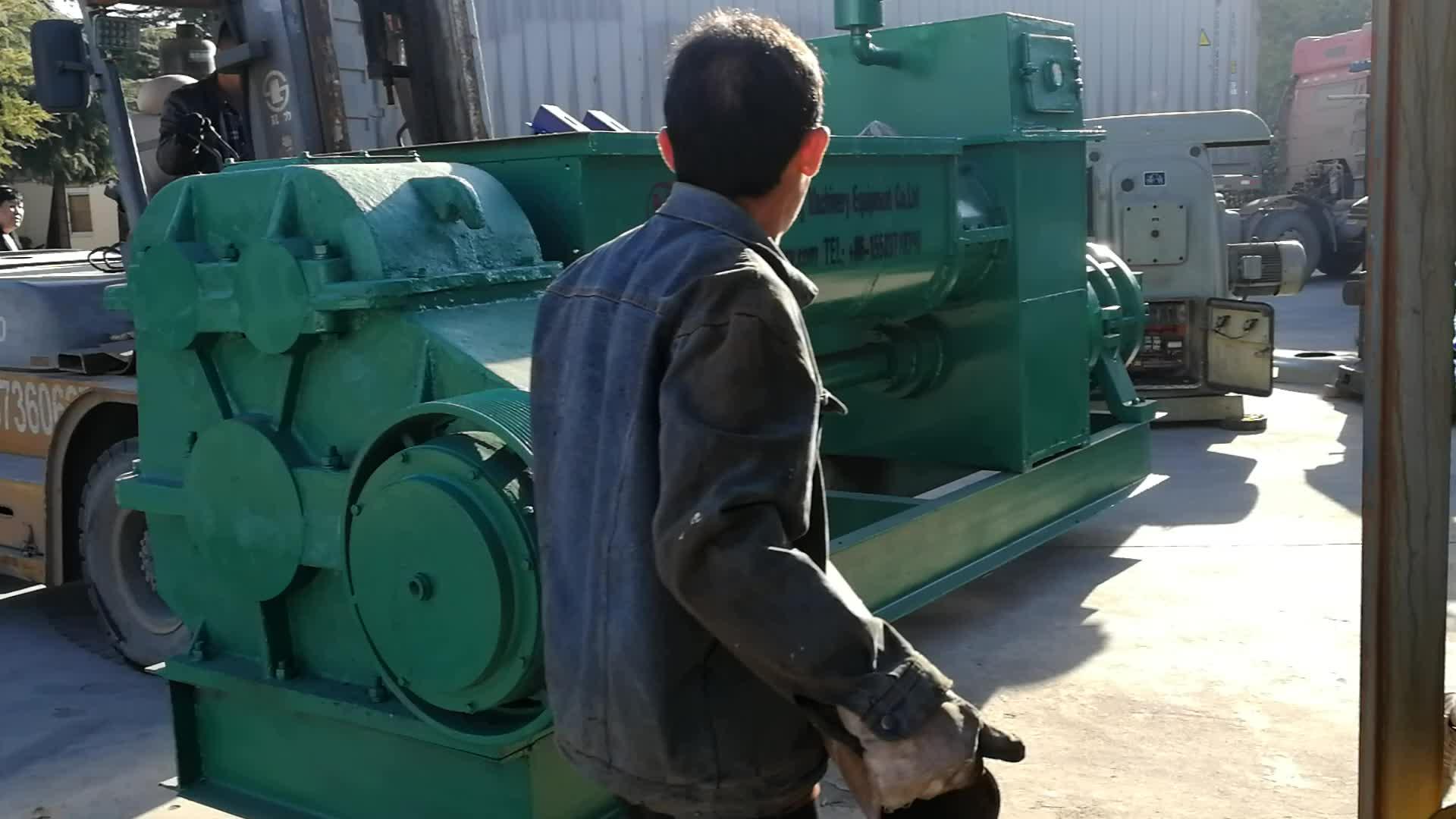 Compressed earth mud bricks Hoffman kiln integrant equipment Vacuum extruder for clay brick making