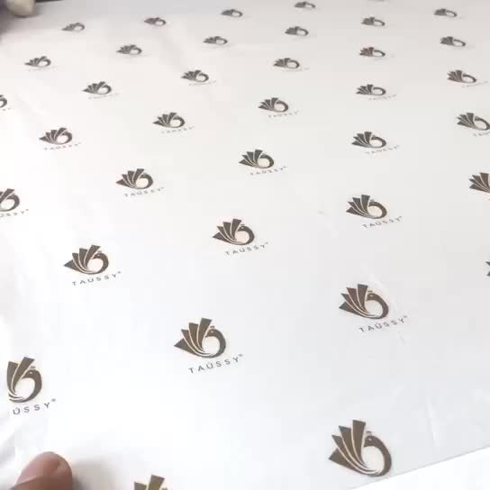 Custom Printed Foil Logo 17G Gold Tissue  Gift Paper Wrapping Paper, Packaging Paper