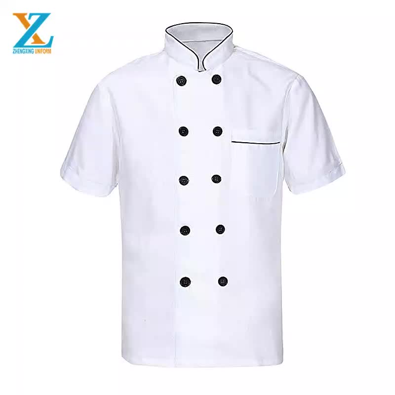 Mode jas/Poly/katoen groene chef jas