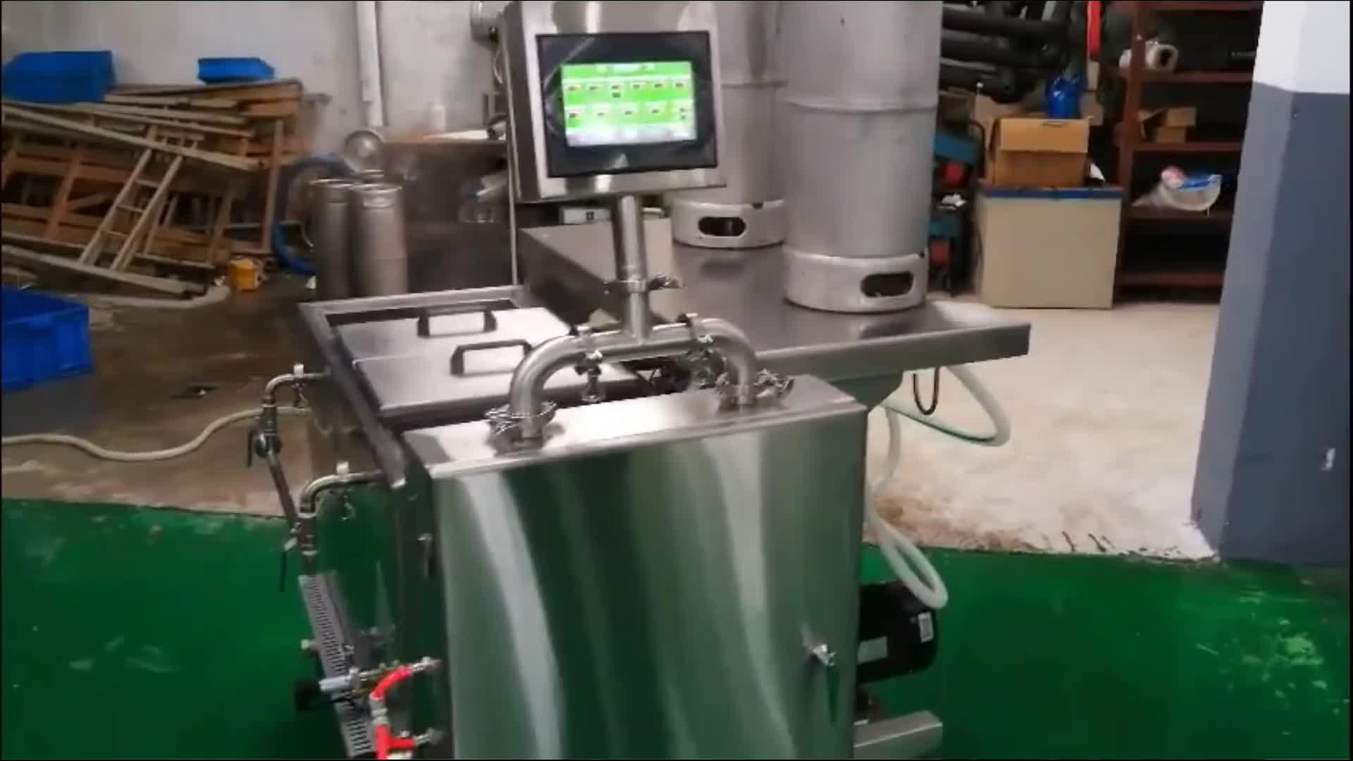 Máquina de limpeza de barril de cerveja de aço inoxidável semi-auto arruela de limpador de barril de cerveja à venda