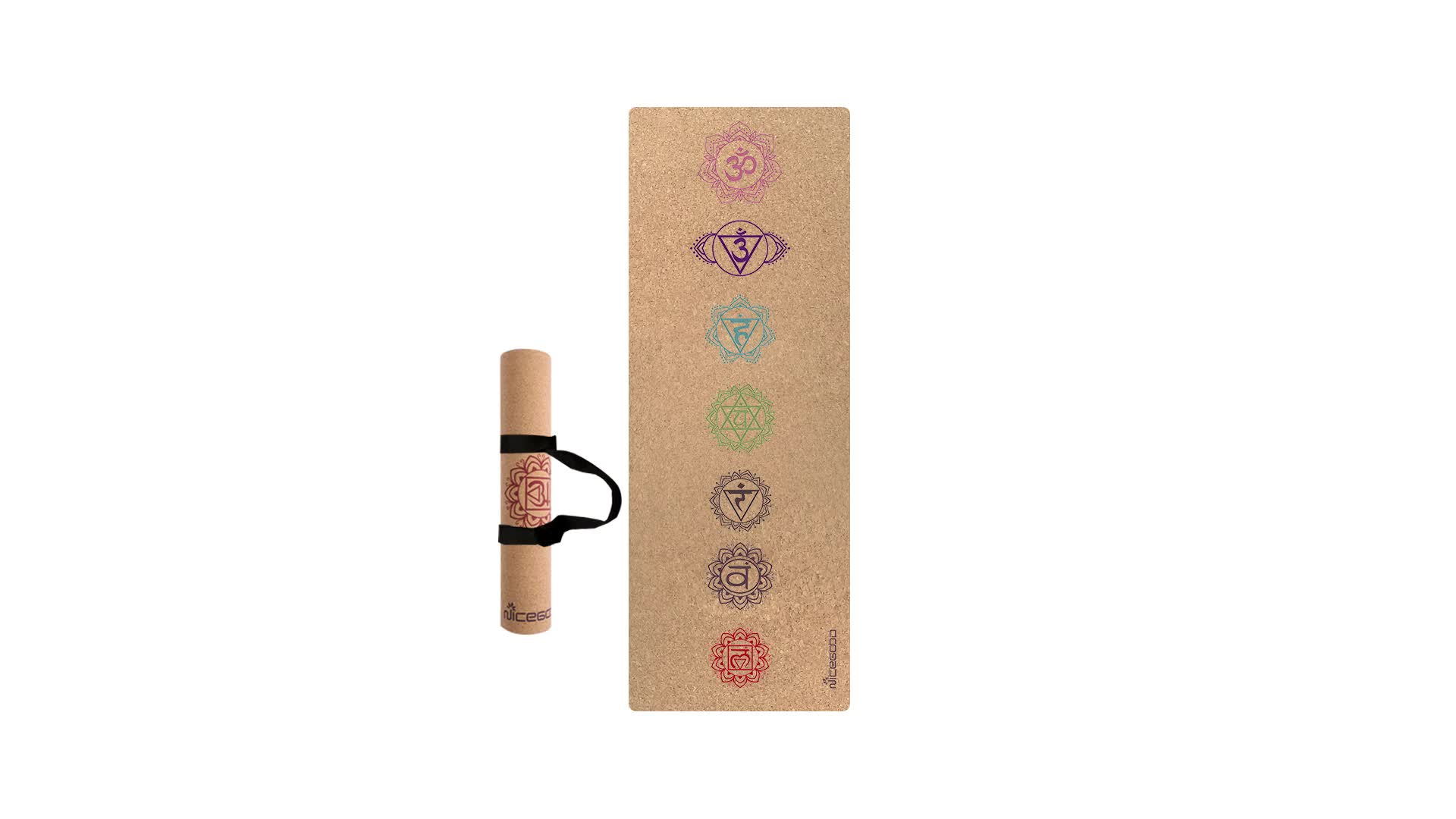 Wholesale Custom Logo Unique Design Cork Yoga Mat India