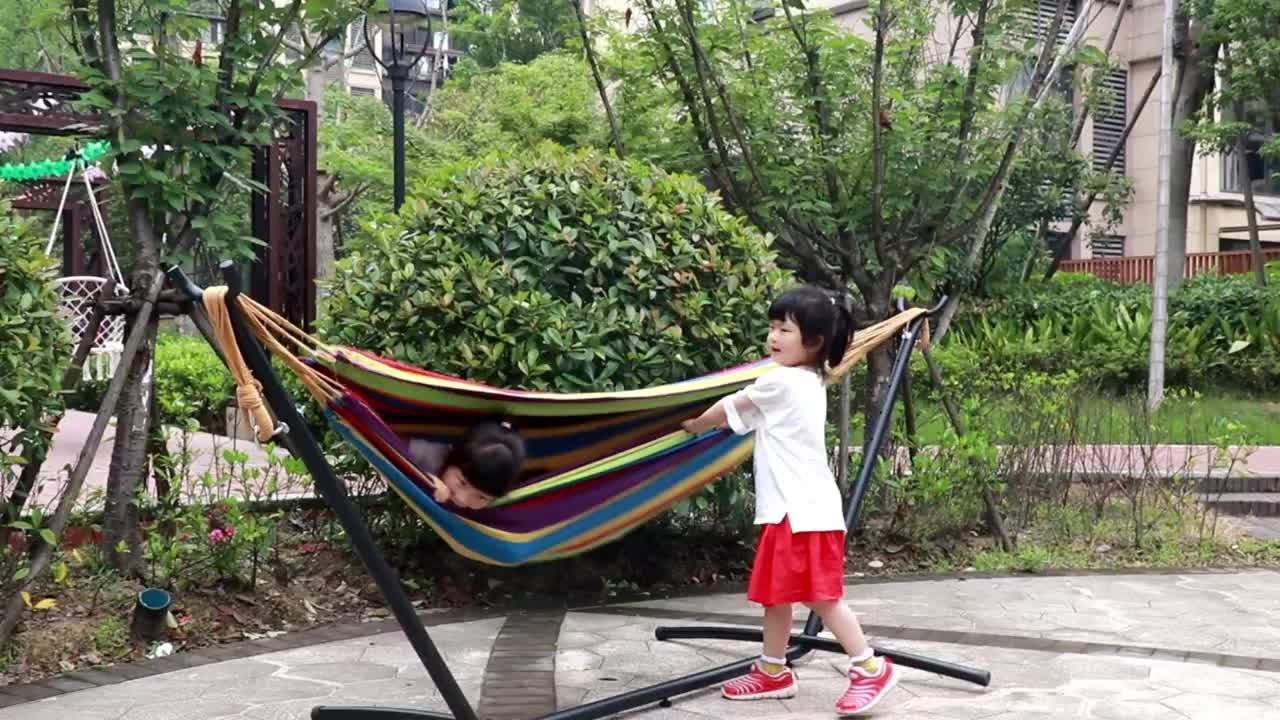 Amazon indoor outdoor Doppel hängematte Camping Hängematte für Gewicht kapazität