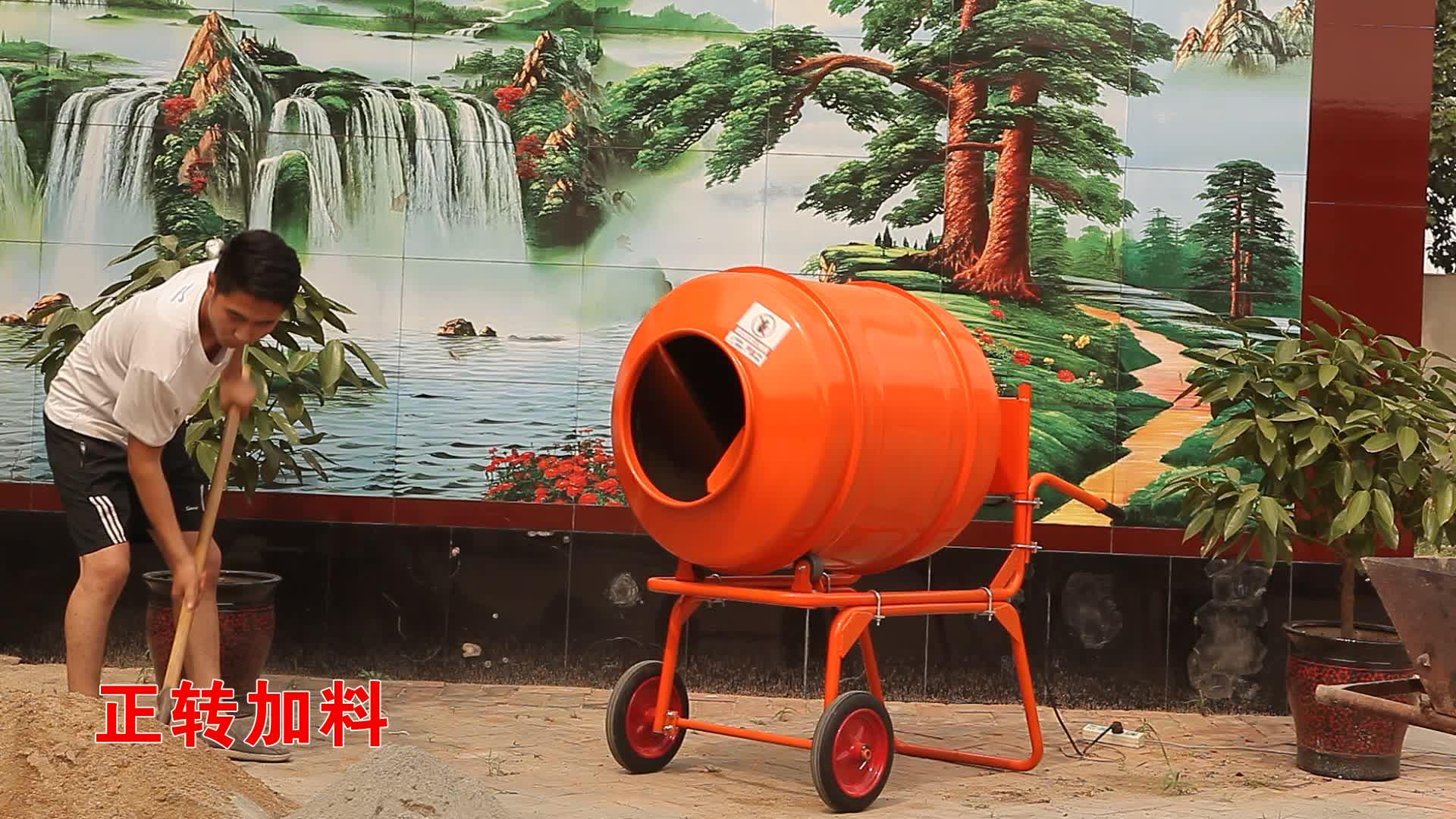 Portable diesel wheelbarrow hand concrete cement mixer with drum