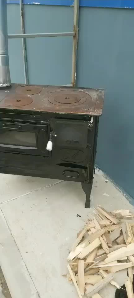 Cast iron wood burning stove with oven for warm iron stove price 	OVEN STOVE