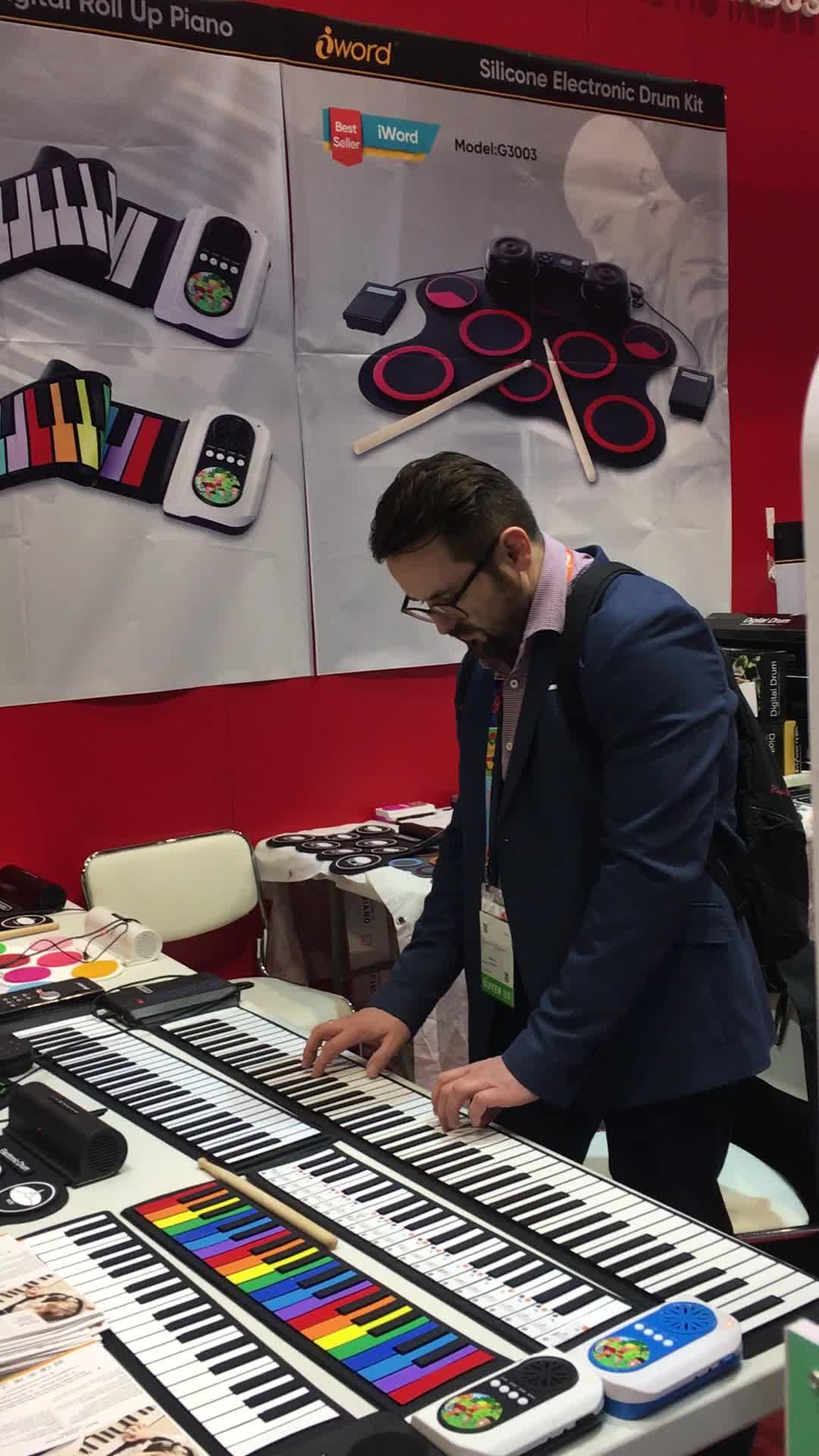 2017 werbegeschenk acryl midi tastaturen faltbares digitales klavier