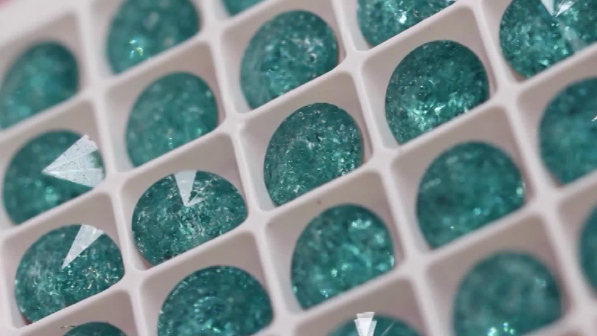 2019 IC Series Color Rivoli Point Back Fancy Stones Glass Rhinestones for Handmade Craft