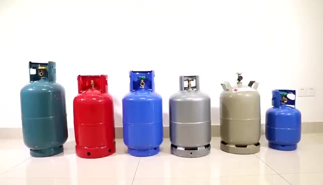 Chinese factories manufacture 15kg lpg butane propane gas cylinder with brass valve
