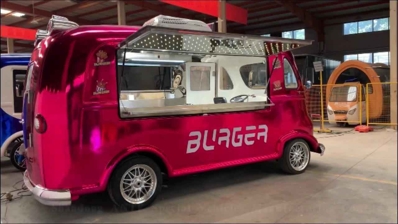 Multifunzione caffè camion elettrico fast food camion per la vendita