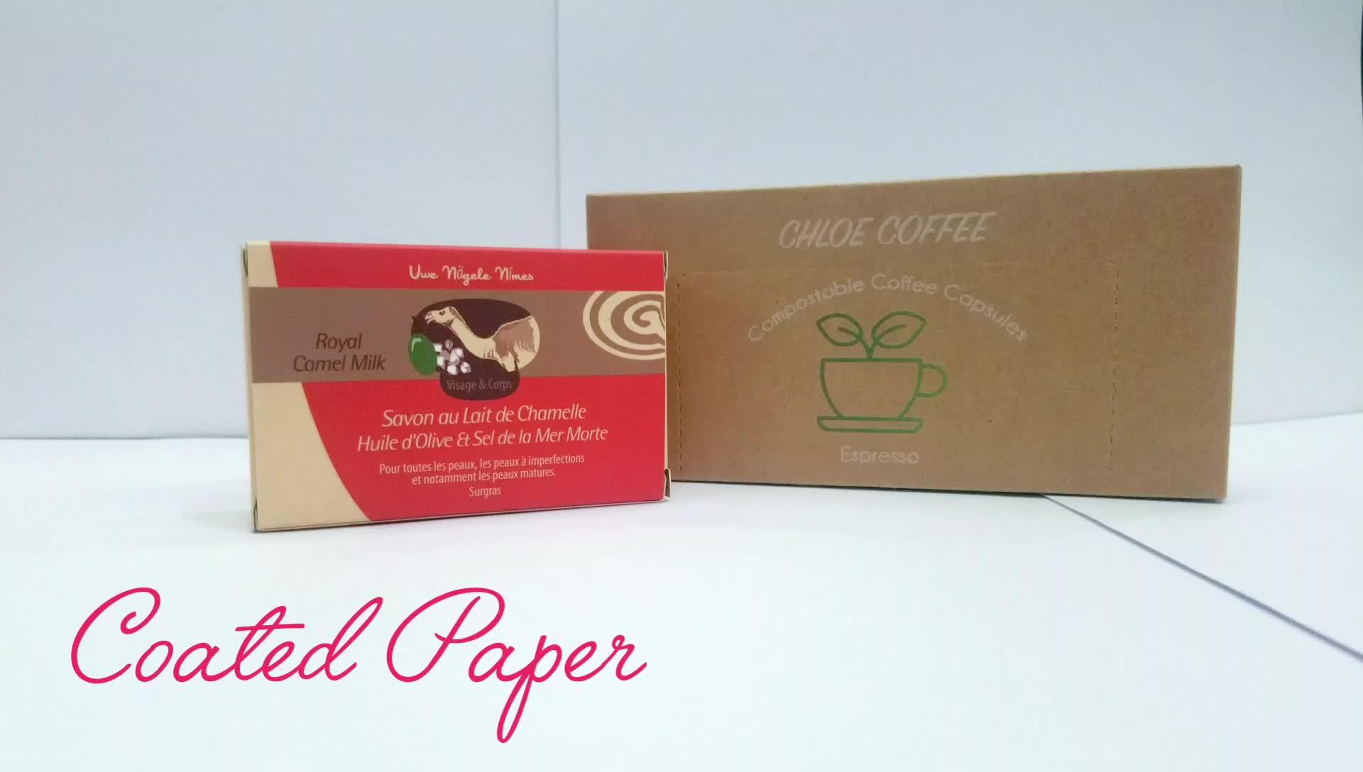 Ücretsiz stoklanan örnek biyobozunur özel Logo Kraft kağıt sabun karton ambalaj kutusu