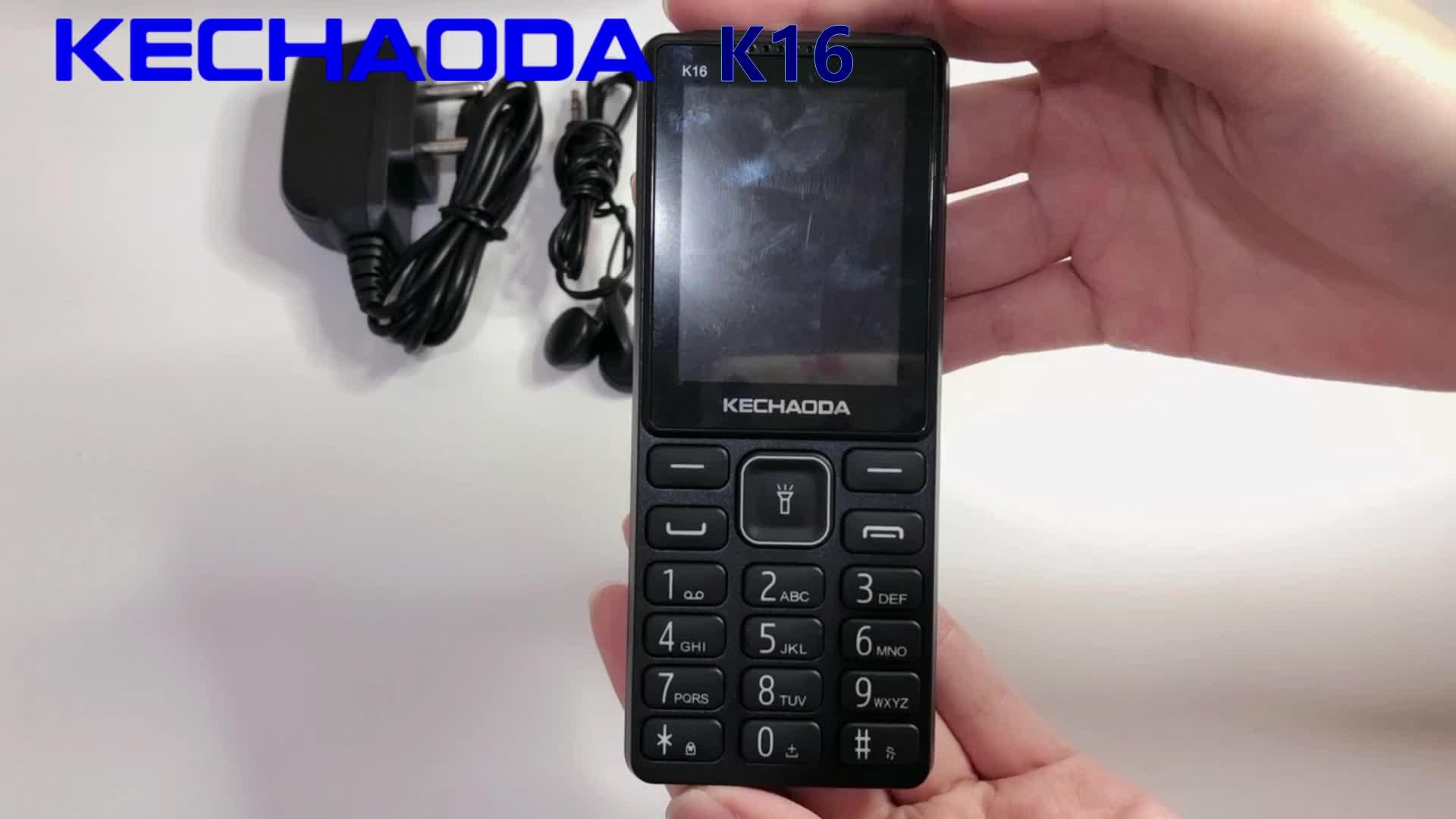KECHAODA K16 China wholesale dual SIM camera 2.4inch smart used mobile phone russian rugged phone