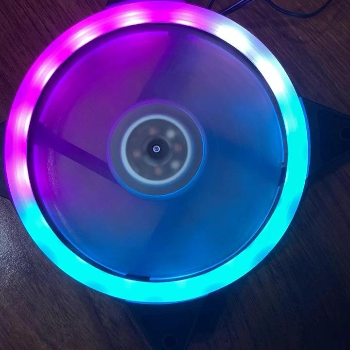 Ventilador de refrigeração, 5 cores anel duplo 120mm ventilador do computador