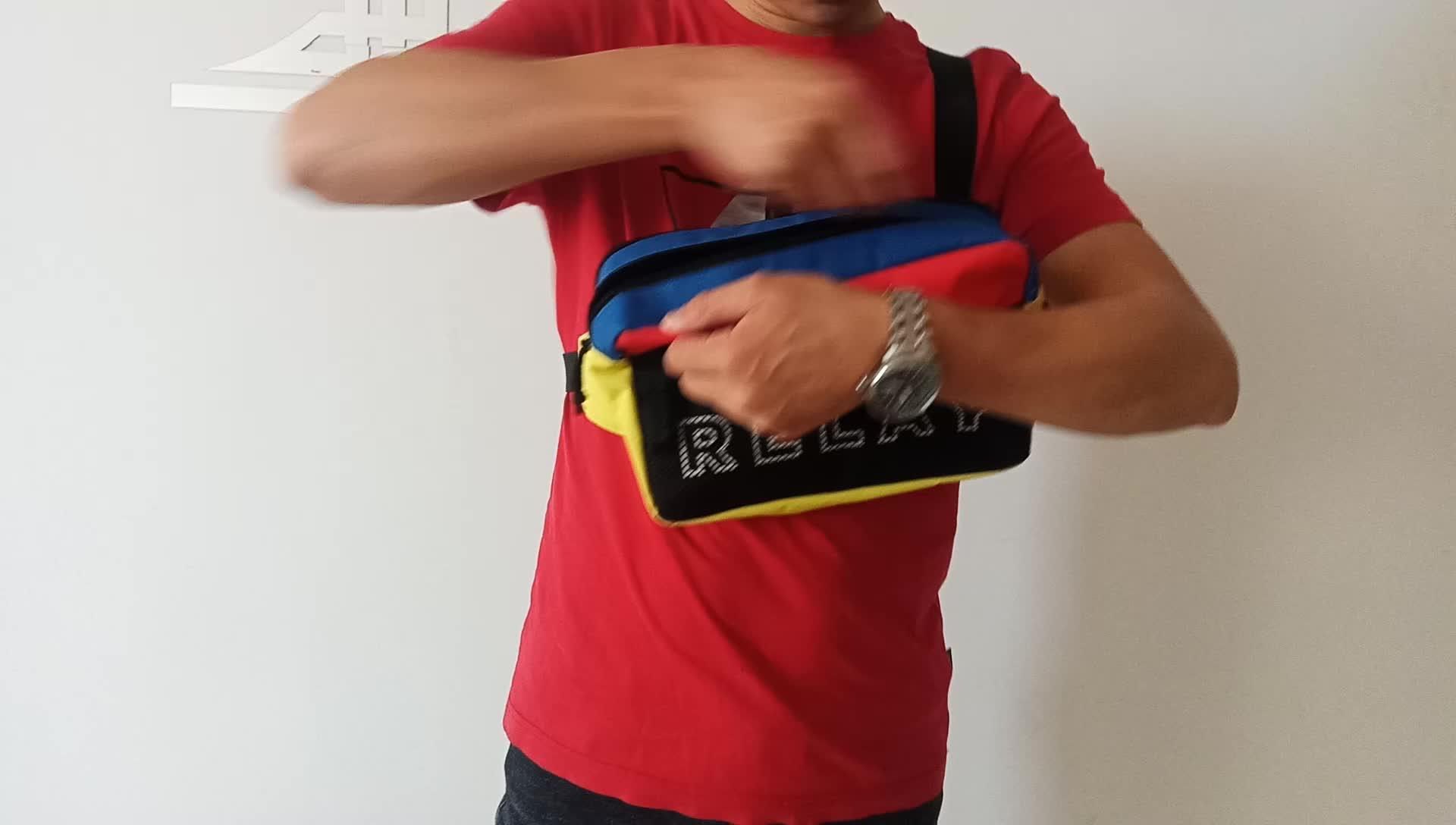 थोक चौकोर आकार आउटडोर खेल कंधे बैग