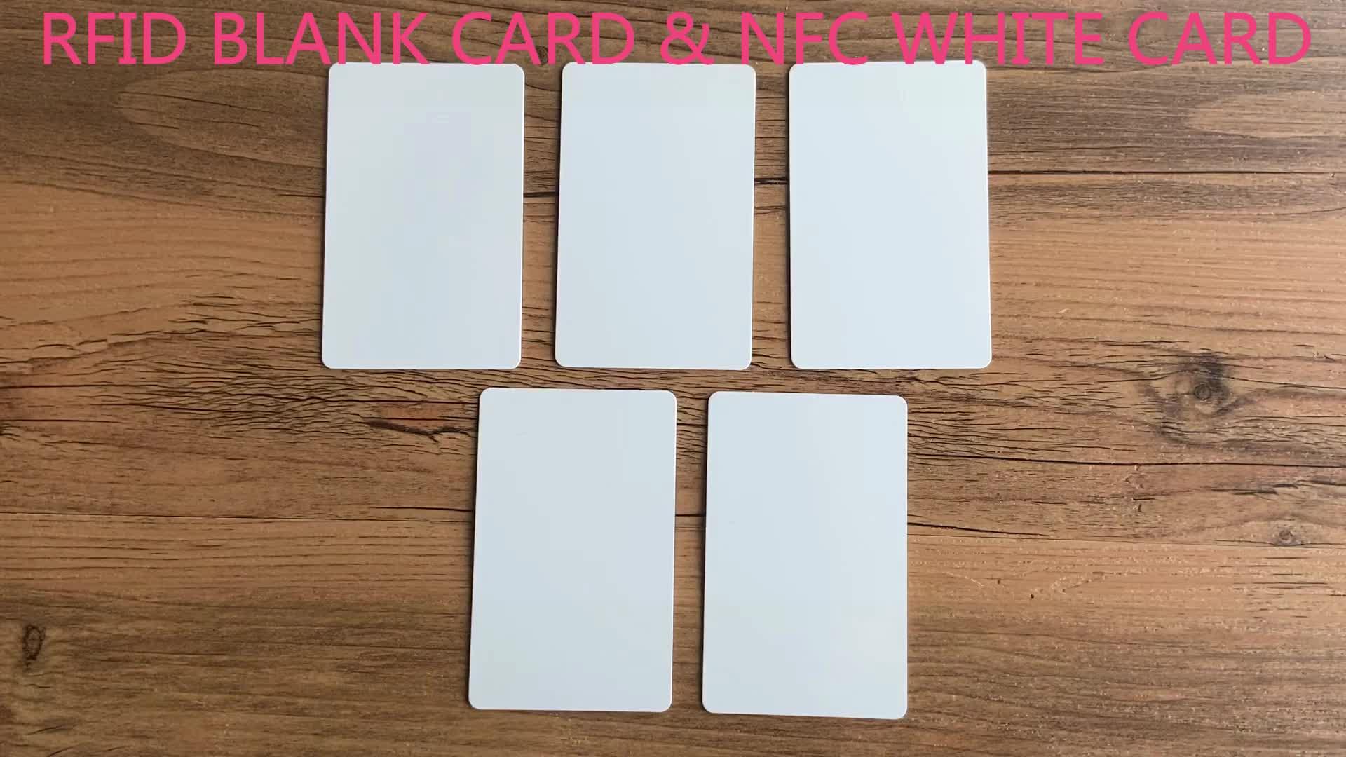 Lage Kosten Alle NFC Mobiele Telefoon en Apparaten Beschrijfbare Afdrukken RFID Wit PVC Lege NFC Kaarten/NFC Id-kaart