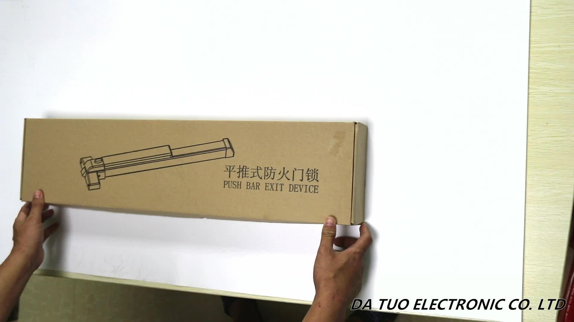 Alta durabilidad de 500.000 ciclos de pánico salida dispositivo bar cerradura de la puerta estándar de 800mm de longitud para fuego de la puerta de acero