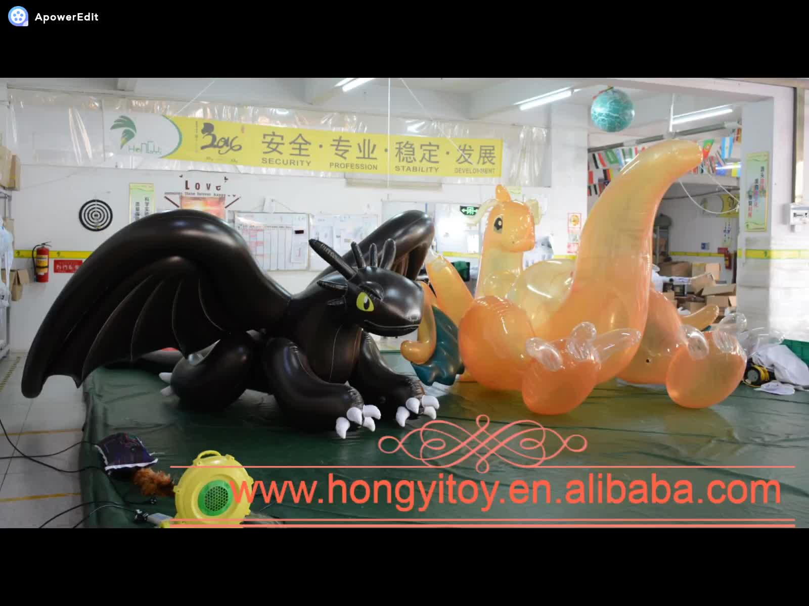 Hongyi Opblaasbare Sexy Draak Opblaasbare Flying Dragon Met Vleugels 150cm Plastic 3D Air Toy SPH