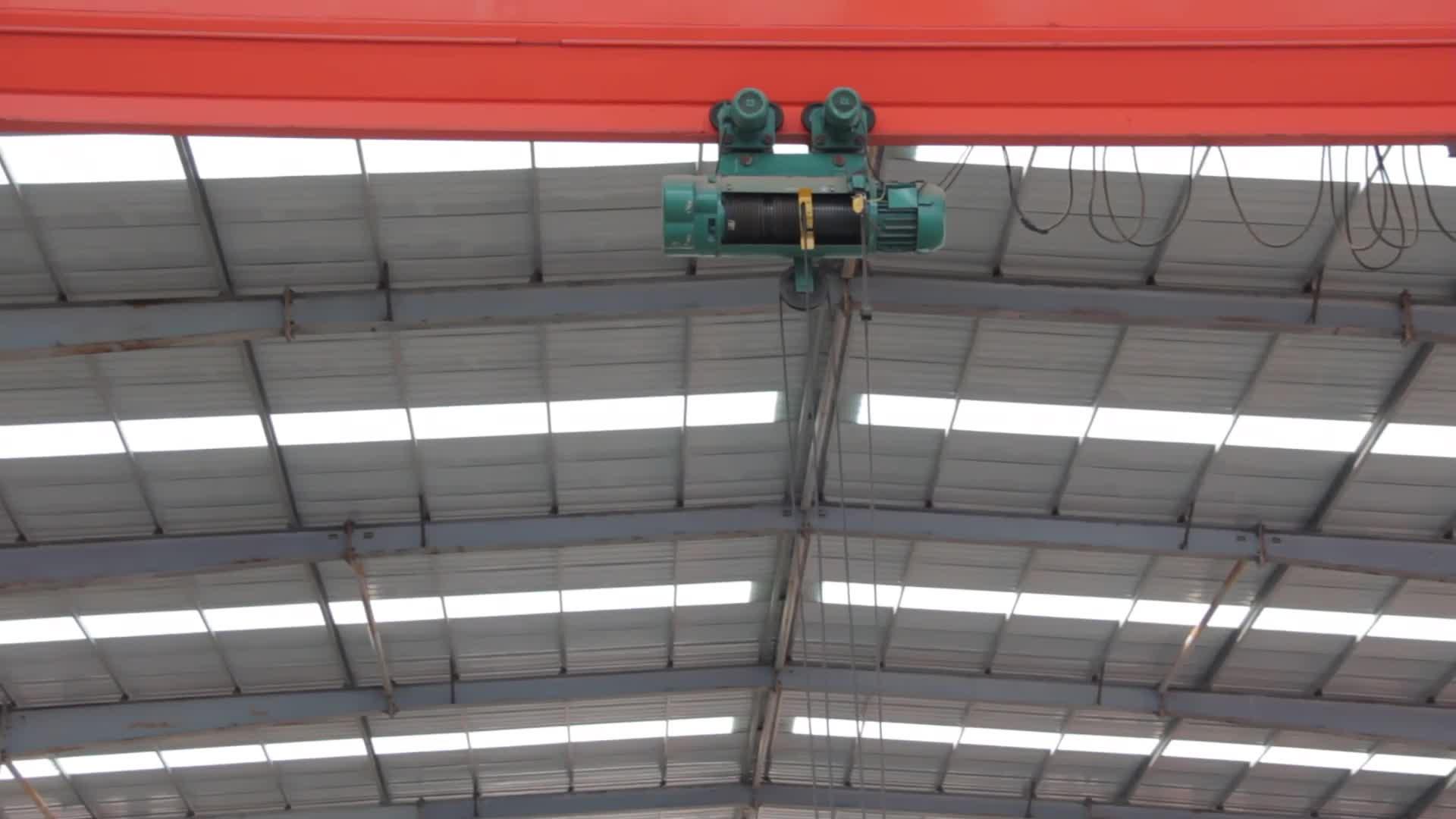 Popular customized specifications bridge crane 1 2 3 5 10 ton single girder overhead crane price for sale