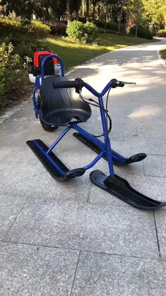 Venda quente Crianças Gasolina Scooter De Neve trenó Esqui mini Quad