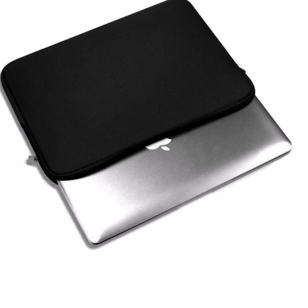 Ücretsiz Örnek 7-17 Inç Siyah Darbeye Dayanıklı Toptan Ofis Neopren laptop çantası Kol