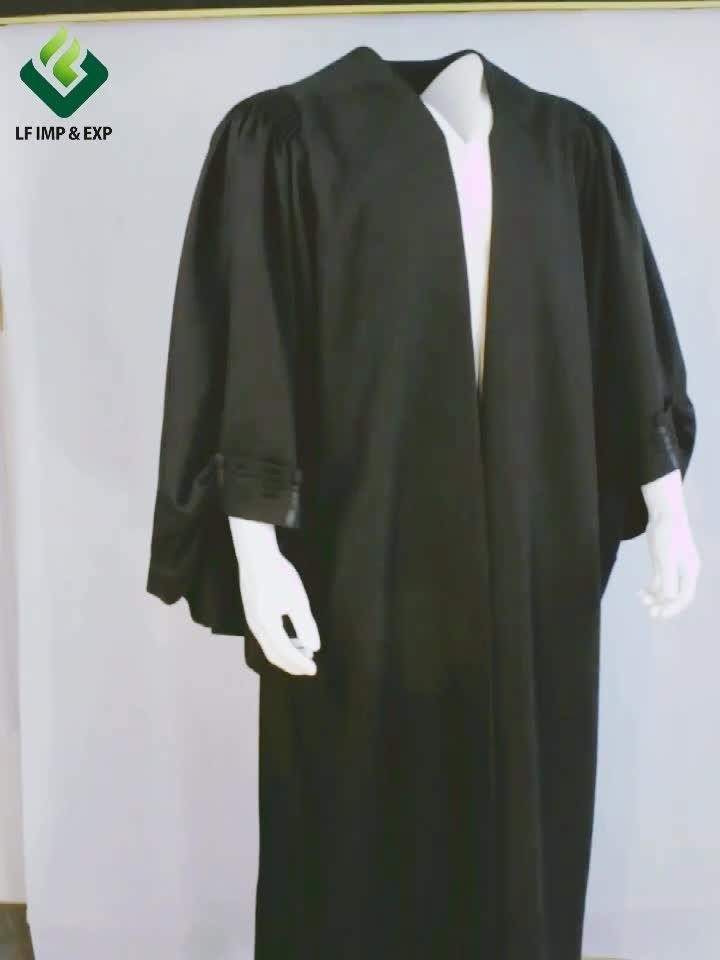영국 스타일의 변호사 가운- 검은 색