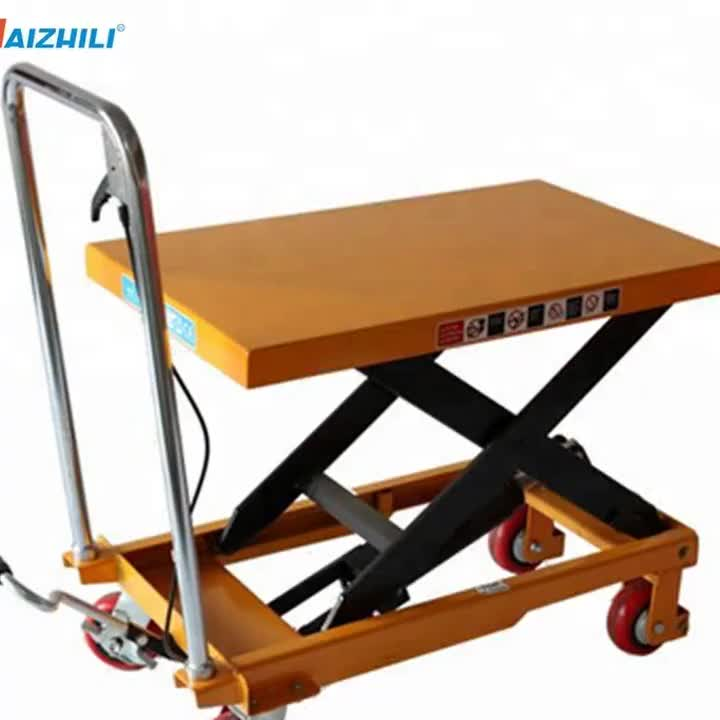 Levage Rapide Pliable 150kg Hydraulique Table Elevatrice Chariot