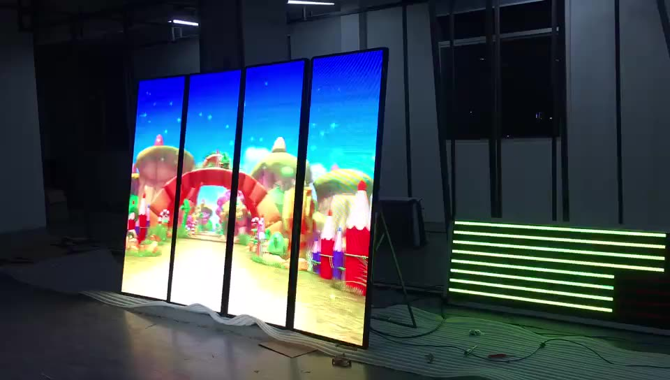 Mini OEM full color floor stand led poster display outdoor