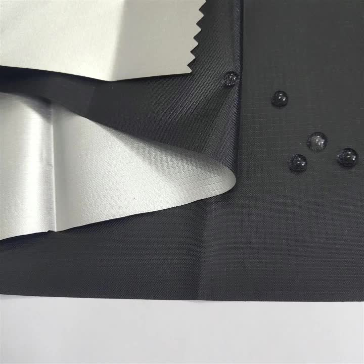 High waterproof quality 210T taffeta fabric silver coated full shading textile for tent/umbrella/car cover