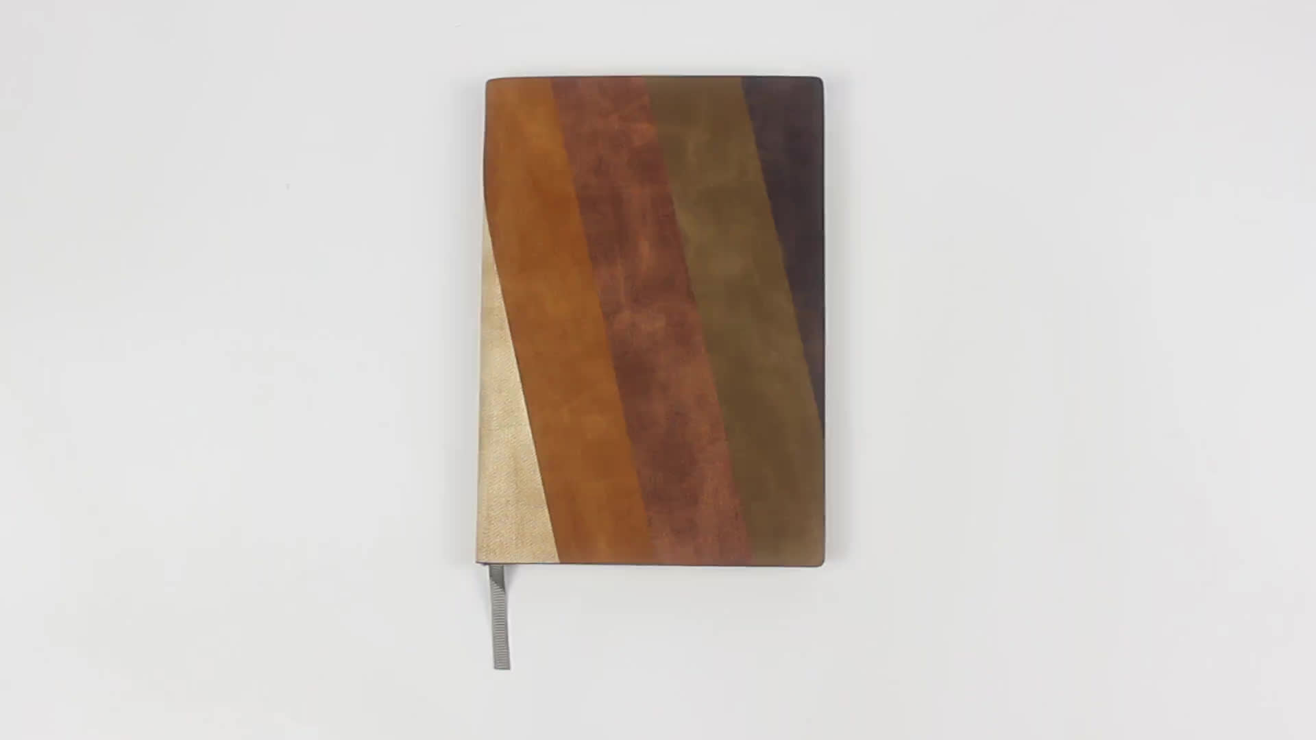 Three Colors Stitching on PU Leather Calendar Notebook Meno