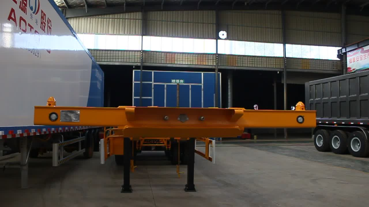 Best manufacturer cheap price used container trailers for sale with hyundai trailer parts